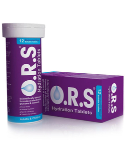 O.R.S Hydration Tablets Blackcurrant Flavour 12 Tablets