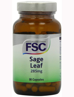 FSC Sage Leaf 285mg 90 Capsules SHORT DATED