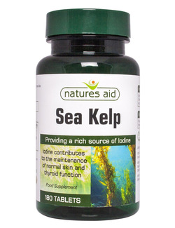 NATURES AID Sea Kelp 180 Tablets - Rich in Iodine