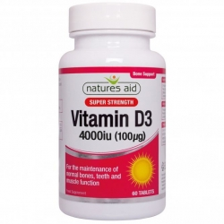 Natures Aid Vitamin D3 4000iu (1000µg) 80 Tablets EXTRA VALUE PACK