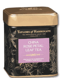 Taylors of Harrogate China Rose Petal Leaf Tea 125g Caddy
