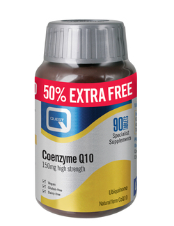 Quest Coenzyme Q10 150mg 90 Tablets Extra Value Pack SHORT DATED