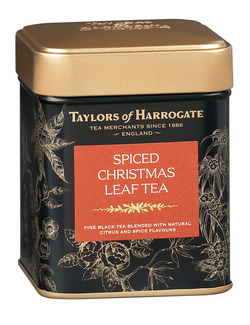 Taylors of Harrogate Spiced Christmas Leaf Tea Caddy 125g