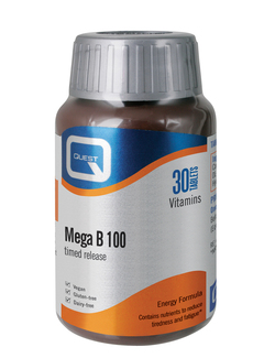 QUEST Mega B 100 Timed Release 30 Tablets