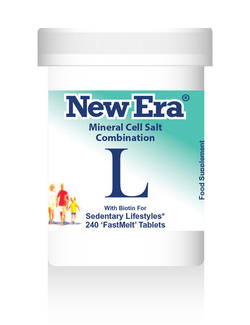 New Era Combination L Mineral Cell Salts 240 Tablets SHORT DATED