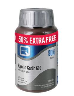 QUEST Kyolic Odourless Garlic 600mg 90 Tablets EXTRA FILL PACK