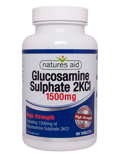 Natures Aid Glucosamine Sulphate 2KCl 1500mg 90 Tablets