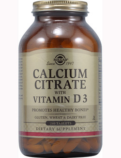 SOLGAR Calcium Citrate with Vitamin D3 240 tabs
