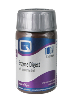 QUEST Enzyme Digest with Betaine HCL & Peppermint Oil 180 Tablets
