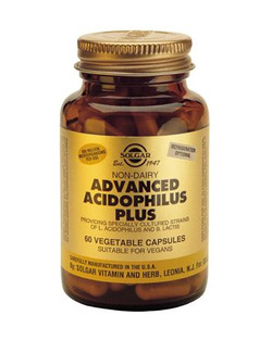 SOLGAR Advanced Acidophilus Plus 60 Capsules
