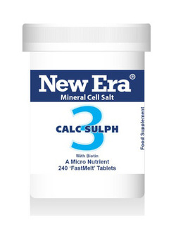 New Era No 3 Calc.Sulph Mineral Cell Salt 240 Tablets