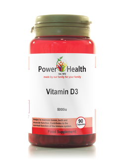 Power Health Vitamin D3 5000iu 90 Capsules SHORT DATED