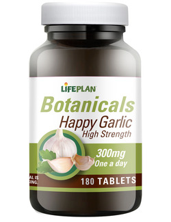 Lifeplan High Strength Happy Garlic 300mg 180 Tablets