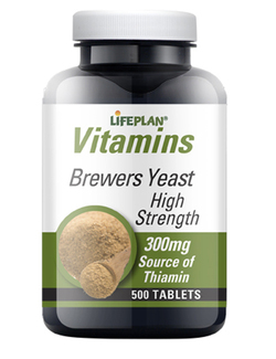 Lifeplan Brewers Yeast 300mg 500 Tablets