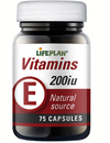 Lifeplan Vitamin E 200iu 75 Capsules - Natural Form