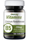 Lifeplan Calcium Pantothenate Vitamin B5 250mg 100 Tablets