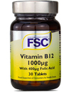 FSC Vitamin B12 1000ug + 400ug Folic Acid 30 Tablets SHORT DATED