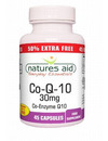 Natures Aid Co-Q-10 30mg 30 Caps + 50% Extra FREE