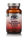 FSC Betaine Hydrochloride & Pepsin Digestive Aid 60 Capsules