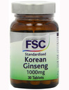 FSC Korean Ginseng 1000mg 30 Tablets