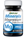 Lifeplan Magnesium 200mg Triple Source 60 Tablets
