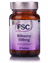 FSC Bilberry 500mg 30 tablets SHORT DATED