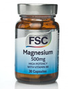 FSC Magnesium 500mg with Vitamin B6 30 Capsules