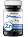 Lifeplan Zinc Citrate 15mg 90 Tablets