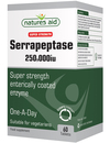 Natures Aid Super Strength Serrapeptase 250,000iu - 60 Tablets