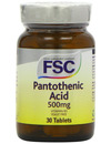 FSC Pantothenic Acid 500mg (Vitamin B5) 30 Tablets