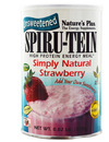 Natures Plus Spiru-Tein SIMPLY NATURAL Strawberry Flav.370g