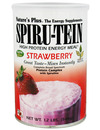 Natures Plus Spiru-tein High Protein Strawberry 544g