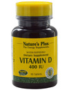 Natures Plus Vitamin D 400 IU (Dry Form) 90 Tabs SHORT DATED