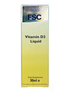 FSC Vitamin D3 Liquid 30ml SHORT DATED