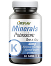 Lifeplan Potassium 300mg - 60 Tablets One-a-Day